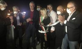 Elisuperfici per il volo notturno, ieri il taglio del nastro con il presidente Ceriscioli