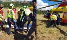 Si frattura la caviglia durante un'escursione sul Monte Bove: 19enne recuperata in eliambulanza