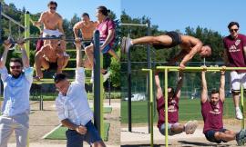 Belforte, nuova palestra all'aperto: gli atleti della Virtus Macerata lasciano tutti a bocca aperta