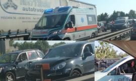 Civitanova, caos lungo la superstrada: un'auto si ribalta, traffico paralizzato