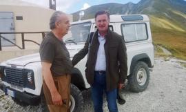 Parco nazionale dei Sibillini: il commissario per la ricostruzione Legnini in visita al Fargno