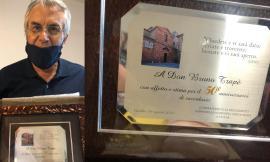 Gualdo, Don Bruno Trapé festeggia 50 anni di sacerdozio