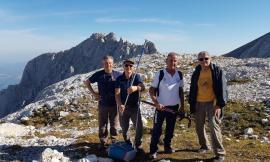 """Quattro scalatori treiesi sulla cima del Gran Sasso: """"La nostra passione non ha età"""""""