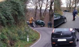 Sant'Angelo in Pontano, perde il controllo dell'auto e finisce in una scarpata: paura per una ragazza