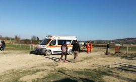 Potenza Picena, perde il controllo della moto da cross e si schianta: ragazzo trasportato a Torrette