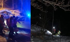 Ussita, cade mentre scia fuoripista: giovane recuperato dopo 7 ore di intervento