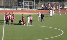 Serie D, l'arbitro va K.O. nel primo tempo: sospeso il derby tra Recanatese e Tolentino