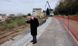 Corridonia, lavori di risanamento dopo la frana: sopralluogo del presidente Pettinari
