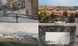 'Sfiocchettata' di marzo nel Maceratese: la neve torna a sorpresa e imbianca le strade