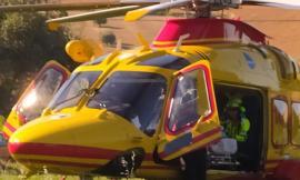 Montelupone, incidente lungo la provinciale 101: motociclista di 19 anni soccorso in eliambulanza