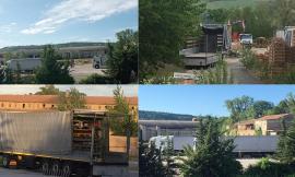 """Montecassiano, via vai di camion all'ex fornace: """"Con le cessioni di macchinari si investa in salute pubblica"""""""