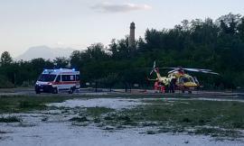 Gagliole, schianto lungo la provinciale: un ferito trasportato all'ospedale in codice rosso