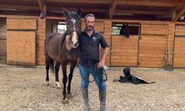 """Il maneggio Primaluce e il metodo 'non violento' per domare i cavalli: """"Il nostro premio sono le carezze"""""""