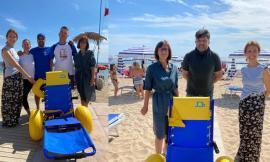 Potenza Picena, Servizio Job e passerella in spiaggia: consegnate le prime due carrozzine