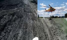 Potenza Picena, rovinosa caduta al crossodromo: giovane motociclista trasportato a Torrette