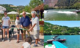 Al lago di Caccamo si potrà fare surf trainati da una barca: taglio del nastro per l'Area 51 e mezzo