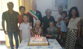 Grande festa a Morrovalle: Rosa Rotelli spegne 100 candeline