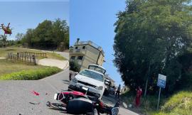 Montecosaro, auto contro scooter: feriti due 17enni. Uno trasferito a Torrette in eliambulanza (Video e Foto)
