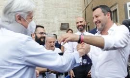 """Salvini a Macerata: """"Green pass inutile"""". Sulle discoteche: """"c'è qualcuno che odia i giovani"""" (Foto e Video)"""