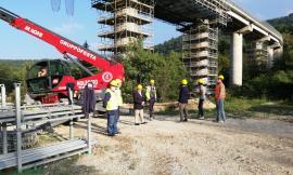 Cingoli, sopralluogo sul viadotto Castreccioni: intervento da oltre 4 milioni di euro