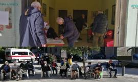 Camper vaccinale a San Severino: in meno di tre ore 80 somministrazioni, 45 le terze dosi