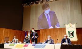 Incontro di ascolto per Acquaroli a Tolentino sulla gestione dei prossimi fondi europei : 10 i settori strategici