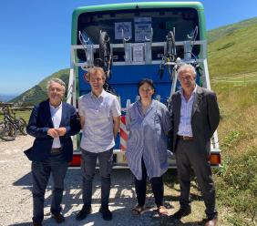 """""""Sibillini bus&bike"""", presentato a Bolognola il servizio di trasporto estivo svolto da Contram (FOTO)"""