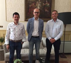 I vertici di Estra Energie incontrano il sindaco di Civitanova Marche