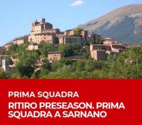 Il Perugia in ritiro precampionato a Sarnano