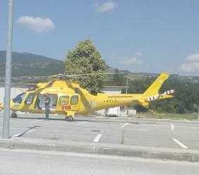 Caldarola, motociclista cade e finisce in ospedale a Torrette