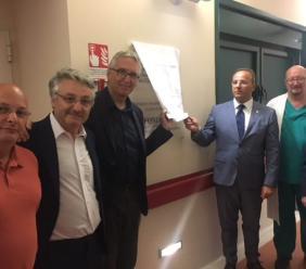 Ospedale di Camerino: inaugurato un macchinario e scoperta una targa in memoria di Dario Conti