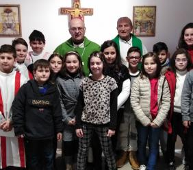 San Ginesio dà il benvenuto al Vescovo Massara. (FOTO)