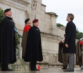 Il treiese Andrea Cristofanelli Broglio presente al 141° Anniversario della Guardia d'Onore a Roma. (FOTO)