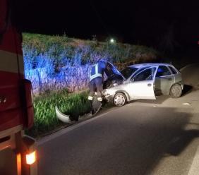 Mogliano, perde il controllo dell'auto e finisce fuori strada: giovane trasportato al Pronto Soccorso
