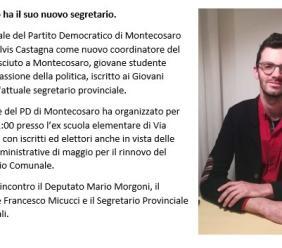 Montecosaro, Elvis Castagna sarà il nuovo coordinatore del circolo cittadino