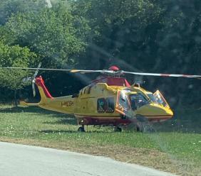 Visso, brutta caduta in località Fematre: ciclista trasportato a Torrette in codice rosso