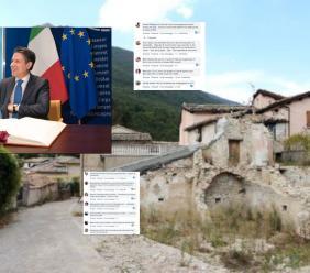 """Conte in visita nel cratere, ma il popolo del terremoto non ci sta: """"Passerella inutile"""""""