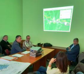 Presentato il progetto di riduzione del rischio idraulico del fiume Potenza. All'incontro presente Farabollini