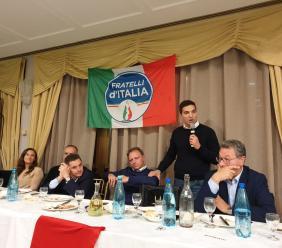 """Parte da Montelupone la campagna elettorale di Fratelli d'Italia: """"Il risultato umbro un preludio per le Marche"""""""