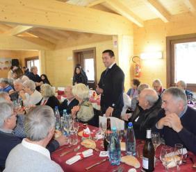 Volontà di ripartenza per un'intera comunità nel pranzo degli over 60 a Pieve Torina