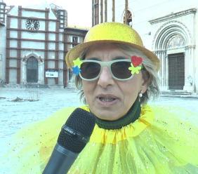 """Visso, il Carnevale per una """"ricostruzione vera"""", Patrizia Serfaustini: """"Quando si lavora insieme si può fare molto"""" (FOTO)"""