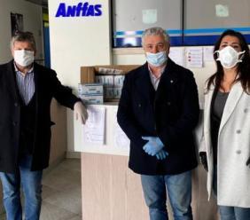 Il cuore del Rotary Matteo Ricci: consegnate 700 mascherine agli operatori dell'Anffas di Macerata