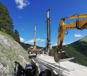 """Seconda macchina perforatrice sulla """"Pian Perduto"""": il cantiere accelera i lavori"""