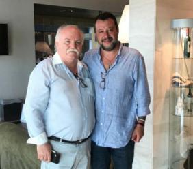Matteo Salvini torna nel Maceratese per un pranzo al Parco Hotel con i suoi sostenitori