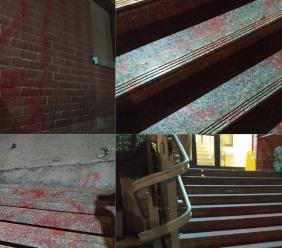 Confindustria Macerata, raid vandalico all'esterno della sede di via Weiden