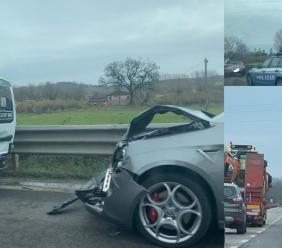 Morrovalle, incidente in superstrada: traffico direzionato su una sola corsia