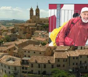 Da 2 anni gira l'italia contro la sclerosi tuberosa: Elio Brusamento fa tappa a Montecosaro