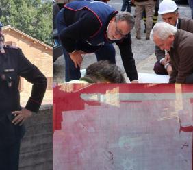 Il Luogotenente Marcello Sergi va in congedo: durante il sisma recuperò numerose opere d'arte