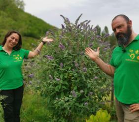 """Cessapalombo, Fabiana e Patrizio festeggiano i 10 anni di gestione de """"Il Giardino delle farfalle"""""""