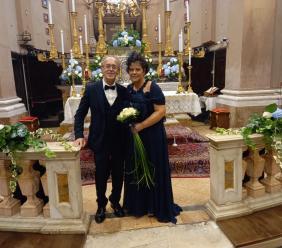 """Macerata, Sergio e Cinzia sposi: il fatidico """"sì"""" arriva nella chiesa di San Giorgio"""